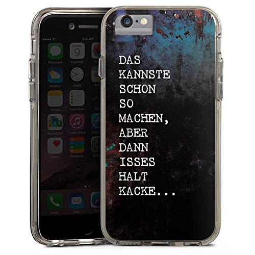 Apple iPhone 8 Bumper Hülle Bumper Case Glitzer Hülle Merde Kacke Shit Bumper Case transparent grau