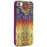 Puro Just Cavalli - Carcasa para iPhone 5/5S, diseño de estampado de serpiente y flor, color amarillo