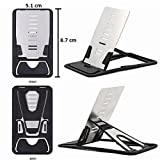 #5: Clever Credit Card Pocket Size Multipurpose Folding Design Universal Cell Phone Mini Card Quick Stand Mobile Holder Desktop Table Dock Cradle Wallet Accessory for all Smartphones, Tablets, Pads etc (Single Piece)