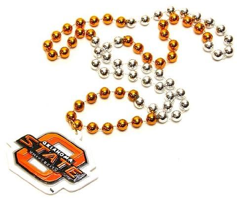 NCAA Oklahoma State Cowboys Beads with Logo Medallion