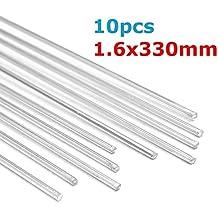 MASUNN 10Pcs 1.6 X330Mm Aleación De Aluminio Soldadura Plata Soldar Alambre Soldadura Tig Relleno Rod