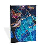 Paperblanks Fantastic Felines Blue Cats and Butterflies Midi Notebook with Lined Pages