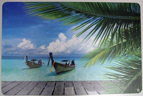Schreibtischunterlage Karibik | Wasser, Meer, Strand 40 x 60 cm abwischbar