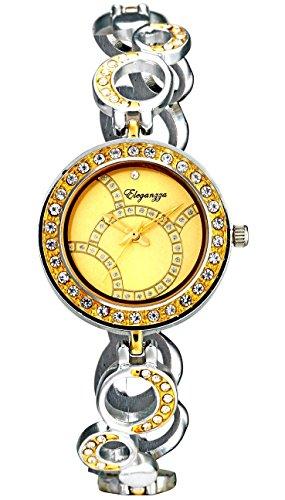 Eleganzza SG0023-GOLD Aquarias Analog Watch For Unisex