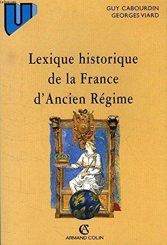Download Lexique historique de la France d'Ancien régime