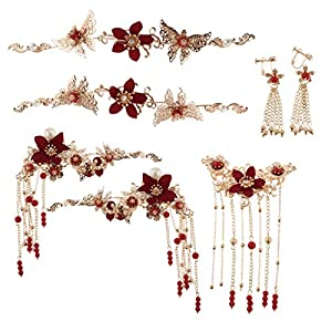 chiwanji Charm Bridal Headdress Pageant Jewelry Chinese Traditional Hair Accessories