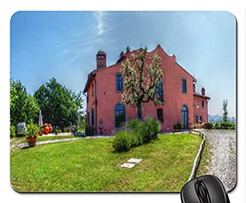 Tuscany Farm in Summer Mouse Pad, Tapis de Souris (Houses Mouse Pad)