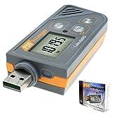 Digitale USB Datenlogger Feuchte / Temperatur / Druck Barometrische Daten Logger Messgerät, Plug & Play, generieren PDF & Excel, 6 Sprachen, pHa, inHg, ℉, ℃ und RH