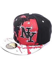 Snapback Ny Noir rouge et blanc - Mixte