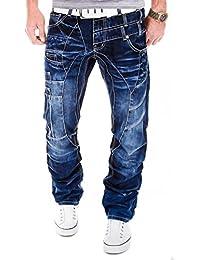 Kosmo Lupo K&M 040 Designer Jeans Homme Cargo Black Bleu Style Clubwear Pantalon W29-W38 / L32-L34