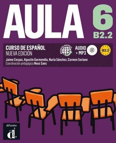 Portada del libro Aula 6 Nueva edición (B2.2) - Libro del alumno (Ele - Texto Español)