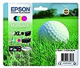 Epson 34 Serie Pallina da Golf, Cartuccia originale getto d'inchiostro DURABrite Ultra, Formato Mixed, Multipack 4 Colori