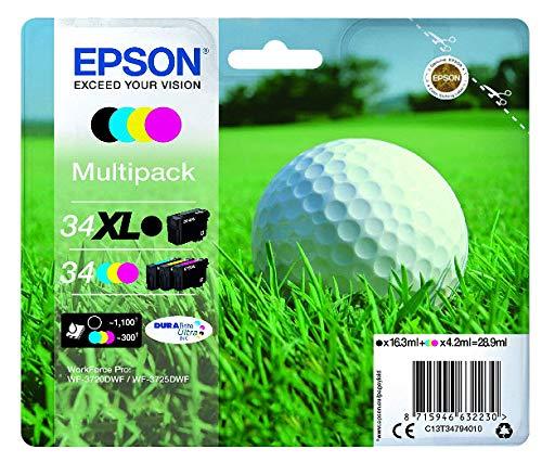 34XL MPACK INK (XL BK&STD CMY) par  Epson