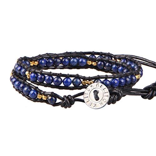 kelitch-lapis-lazuli-perles-noir-cuir-wrap-bracelet-2-ranges