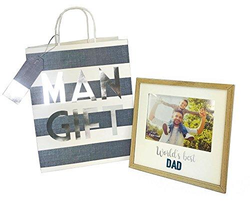 Neon candy regalo e borsa per uomini set regalo festa del papà del mondo best dad cornice portafoto 7x 5