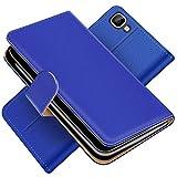 Conie Handytasche für Wiko Rainbow Cover Schutzhülle im Bookstyle aufklappbare Hülle aus PU Leder Farbe: Blau