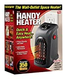 #9: Flipco ® 350W Wall-Outlet Electric Heater Handy Heater for Dens, reading nooks, work, bathrooms, dorm rooms, offices, home offices, campers, work spaces, benches, basements, garages and more.