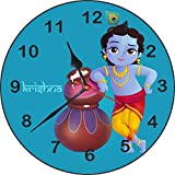 [Sponsored]Wall Clock 3D Krishna With Matki Wall Clock Watch Vintage Analogue Movement Wall Clock With Glass For Home / Kitchen / Living Room / Bedroom / Office Designer Wall Clock /Retro Vintage Hand Made 3D Wall Clock / Antique Clock Decorative