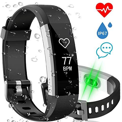 Fitness Tracker, Monitor del Sonno della Frequenza Cardiaca AISIRER Activity Tracker Cardio Contapassi Impermeabile IP67 Orologio Fitness Donna Uomo con 14 Sport Mode GPS Notifiche per iOS Android