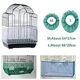 falda de malla para jaulas de pájaros cubierta de malla para atrapar semillas tela ventilada hermosos suministros que se adaptan de forma segura alrededor del polvo de los pájaros