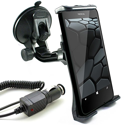 KFZ Set für NOKIA 3 / 5 / 6 / Lumia 1520 / 1320 / 1020 / 930 / 925 / 920 / 820 / 735 / 730 / 720 / 640 / 635 / 630 / 625 / 620 / 535 / 532 / 520 / auch XL, LTE & DUAL SIM Modelle / scozzi Halter