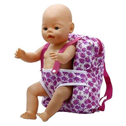 Shage Kinder Kinder Rucksack & 18 Zoll Puppe Carrier Schlafsack (A) - Puppe 18 Alexander Madame