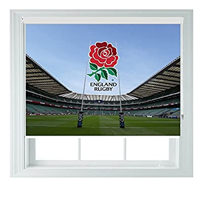 England RUFC Style Various Sizes Black Out Roller Blinds for Bedrooms Bathrooms Kitchens and Caravans AOA® by AOA®
