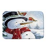 Prevently Weihnachten Bodenmatte Weihnachtsmann Schneemann Musterteppich Super weich Wasseraufnahme Rutschfest Teppiche für Wohnzimmer Küche Flur Schlafzimmer 40x60CM (Colour H)