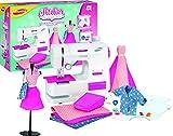 Joustra Atelier de Stylisme Couture avec Machine à Coudre à Pédale et 1 Mannequin pour Créer des Vêtements de Poupées-Loisirs Créatifs pour Enfants dès 8 Ans, J46049, Multicolore