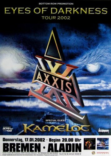 Axxis-2002-concerto Poster-2002-Tour Poster-Concert-Kamelot