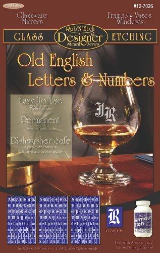 Armour Etch Designer Stencil Pak Old English Letters/Numbers by Armour Etch Designer Stencil Pak