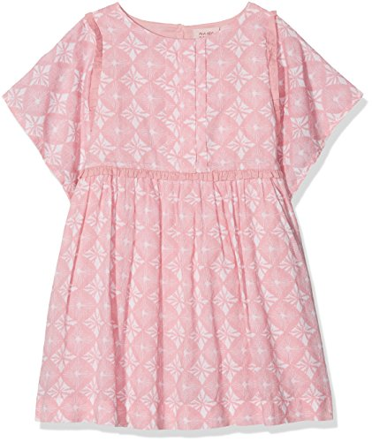 Noa Noa miniature Mädchen Kleid Dress Short Sleeve,Knee Length Rosa (Blush 800) 140 (Herstellergröße: 10Y)