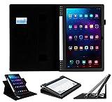 Lenovo YOGA 2 Pro 13.3 Custodia - UTRO Premium Pelle PU Folio Smart Case Cover Custodia con Funzione Auto Sonno/Sveglia, Cinturino in Velcro e Slot per Schede per Lenovo YOGA Tablet 2 Pro 13.3 Pollici 1380F (Nero)