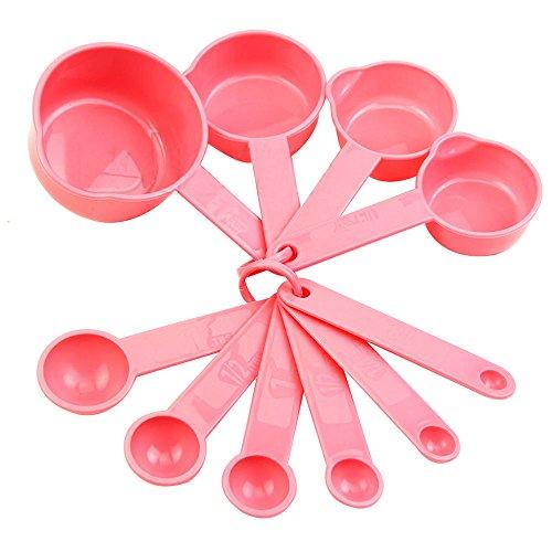 good01100Backförmchen Löffel Set Esslöffel Mess-Werkzeug Pink Küche Kaffee kochen