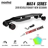 maxfind Max-4 Electric Skateboards, Replaceable Battery,Electric Longboard With Wireless Remote Control (Standard Range)