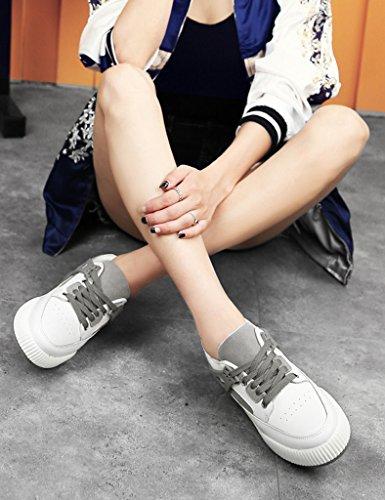 HWF Scarpe donna Scarpe sportive da donna casual piatto piatto primavera scarpe da corsa fondo singolo studente scarpe da donna ( Colore : Grigio scuro , dimensioni : 40 ) Grigio Scuro