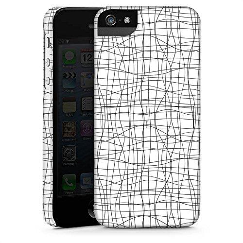Apple iPhone 6 Housse Étui Silicone Coque Protection Dessin Lignes Motif CasStandup blanc