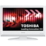 Toshiba 22AV616DB 22-inch Widescreen HD Ready LCD TV with Freeview - White