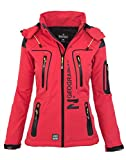 Geographical Norway Damen Softshell Funktions Outdoor Regen Jacke Sport [GeNo-20-Corail-Gr.XXL]