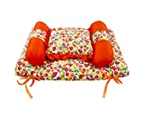 #6: Baby Grow Baby Bedding Set With Pillow And Bolsters Fruit Printed (Orange, 0-12 Months)