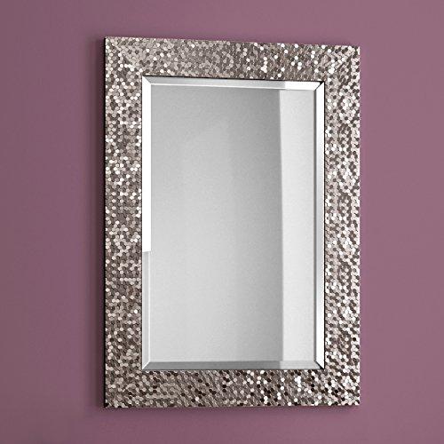soak Moderno espejo de baño de pared de 500mm x 700 con detalles metálicos en el marco