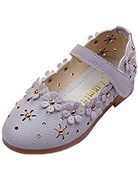 M&A Zapatos Mocasines de Cuero Niña Princesa Primavera Flor Huecos Verano Moda Nuevo 21-30 Multicolor