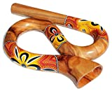 Rund Reise Didgeridoo Horn gelb orangeTravel Didge Did104 bunt