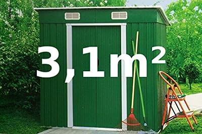 Gartenhaus Geräteschuppen 3,1m² aus verzinktem Stahlblech Metall grün von AS-S von AS-S auf Du und dein Garten