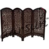 Aarsun Woods Handcrafted Wooden Partition Screen / Room Divider, Natural Wood Color