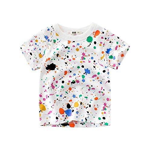 Hirolan Säugling Baby Babykleidung Kinder Sweatshirts Jungen Blusen Mädchen T-Shirts Karikatur Drucken Oberteile Outfits Kleider Weste Neugeborene Kleidung Tops (90, Mehrfarbig)