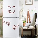 OHQ Charmant Visage Souriant Sticker Mural Autocollant De RéFrigéRateur Mignon Heureux DéLicieux Cuisine Mur Autocollants En Vinyle Art Wall Decal Home Decor (14, 55cm x 72cm)