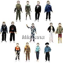 Miunana 3 sets Traje Ropa Vestir Fiesta Partido Camisa de Manga Larga + Pantalones Moda Chaque Abrigo para Novio Ken Príncipe Muñeca Barbie