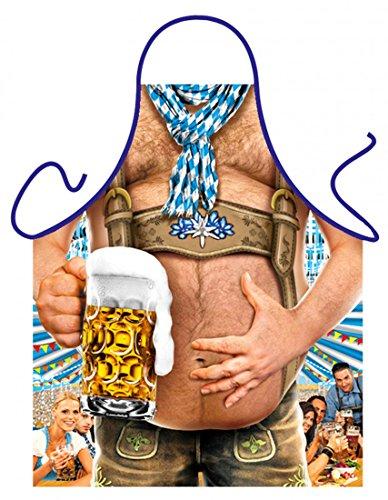 Goodman Design  witzige Schürze - Bierbauch - Bedruckte Schürze mit Urkunde - Originelles Grillzubehör