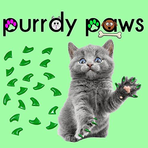 Nägel Kostüm Katze (40er grün Soft Nail Kappen für Katzen Krallen * purrdy Pfoten Marke)